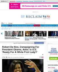 Robert DeNiro Raises White First Lady Question: Huffington Post